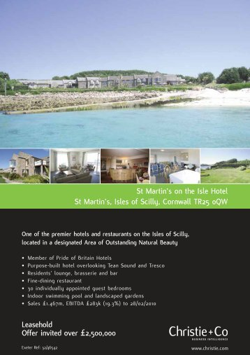 St Martin's on the Isle Hotel St Martin's, Isles of Scilly, Cornwall TR25 ...