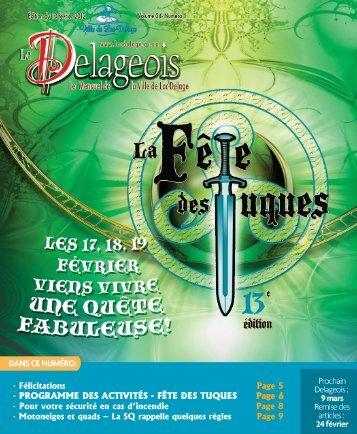Volume 24 numéro 1 - 10 février 2012 - Ville de Lac-Delage