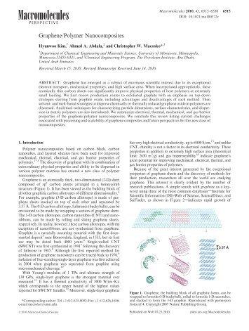 Graphene/Polymer Nanocomposites - Tarleton State University
