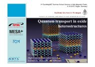 Quantum transport in oxide heterostructures