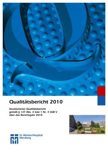 Qualitätsbericht 2010 - Barmherzige Brüder Trier e. V.