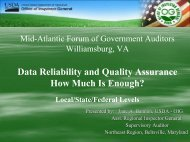 Data Quality Assurance - Intergovernmental Audit Forums