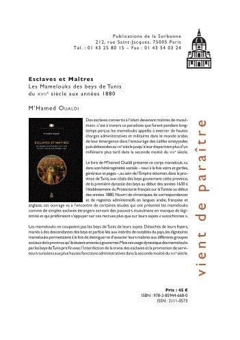 vient de paraîtr e - Université Paris 1 Panthéon-Sorbonne