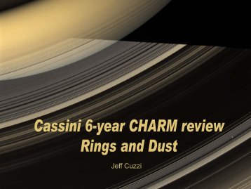 Cassini 6-year CHARM Review -- Rings and Dust