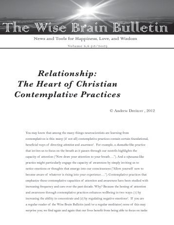 The Wise Brain Bulletin - Wisebrain.org