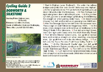 Dodworth & Silkstone Route.cdr - Barnsley Council Online