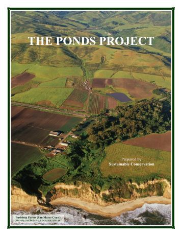 THE PONDS PROJECT - Sustainable Conservation