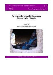 Blench 2012 offprint linguistic geography.pdf - Roger Blench