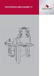 EIXO DIFERENCIAL SIMPLES REDUÇÃO 17X - Meritor