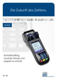 Produktinformation H5000 - B+S Card Service GmbH