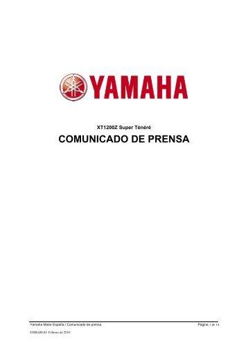 2010_Super-Ténéré_Comunicado de prensa - Yamaha Motor Europe