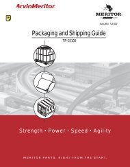 CVA Packaging and Shipping Guide - Suppliers - Meritor