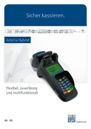 Produktblatt Artema Hybrid - B+S Card Service GmbH