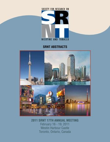 2011 Annual Meeting Abstracts - Society for Research on Nicotine ...