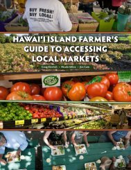 Hawaii Island Farmer's Guide to Accessing Local Markets