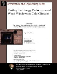 A Report to - National Center for Preservation Technology and ...