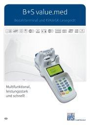 Produktblatt B+S value.med - B+S Card Service GmbH