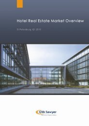 Hotel Real Estate Market Overview, St. Petersburg ... - GVA Sawyer