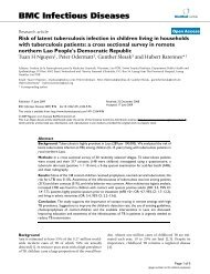 Risk of latent tuberculosis infection in children living in households ...