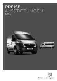 Preise AusstAttungen - Peugeot