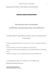 The neural time course of art perception - Experimental-psychology ...