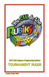 TOURNAMENT RULES - You CAN Do the Rubik's Cube!
