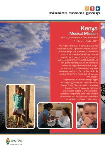 Kenya Medical Mission - Mission Travel