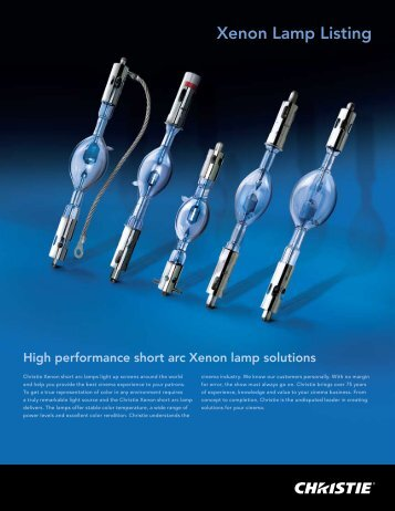 Xenon Lamp Listing - Projectionniste.net