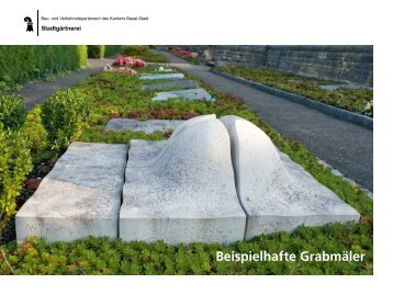 Beispielhafte Grabmäler - Stadtgärtnerei