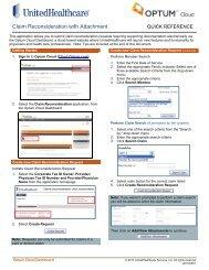 Claim Reconsideration with Attachment - UnitedHealthcareOnline.com