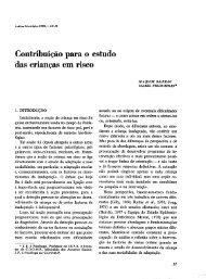 Contribuição para o estudo das crianças em risco