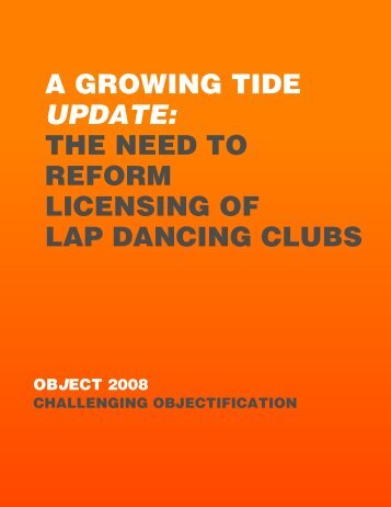 the need to reform licensing of lap dancing clubs - Object