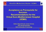 Acceptance as Prerequisite for Success: Recommendations for the ...
