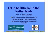FM in healthcare in the Netherlands - Dansk Facilities Management