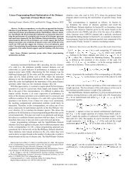 Linear programming-based optimization of the ... - IEEE Xplore
