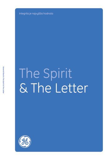 The Spirit & The Letter Download in Slovak: GE ... - General Electric