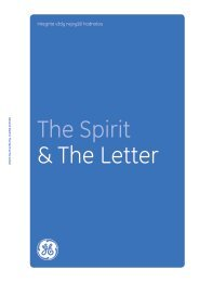 The Spirit & The Letter Download in Czech: GE ... - General Electric