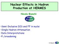 Nuclear Effects in Hadron Production at HERMES - Infn