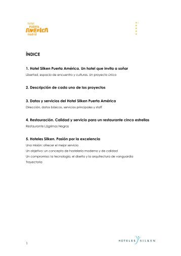Dossier del Hotel (pdf) - Hoteles Silken