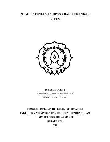MEMBENTENGI WINDOWS 7 DARI SERANGAN VIRUS