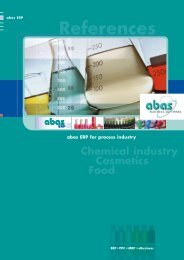ERP system for the process industry - ABAS Software AG