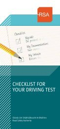 CHECKLIST FOR YOUR DRIVING TEST - RSA.ie