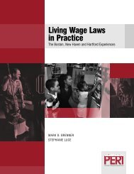 Living Wage Laws in Practice - PERI - University of Massachusetts ...