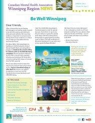 spring 2013 newsletter - Canadian Mental Health Association ...