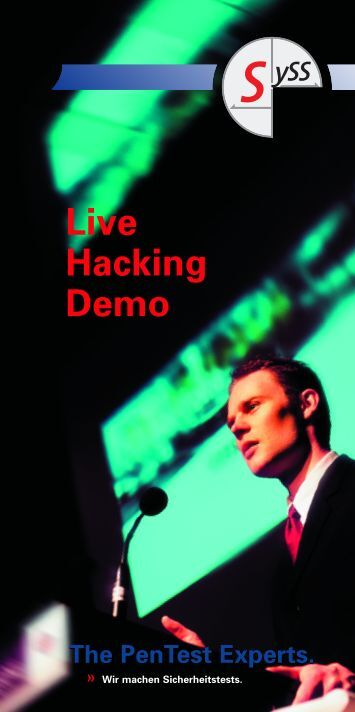 Live-Hacking 16.09.04 - SySS GmbH