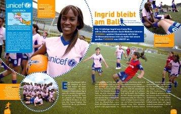Ingrid bleibt am Ball - younicef.de