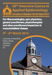 20th Intensive Course in Applied Epidemiology - emeunet