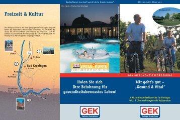 Aktiv für Ihre Gesundheit GEK – gute Leistungen ... - Breisgau - Klinik