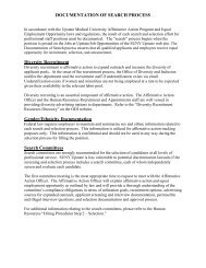 Documentation of Search Requirements - SUNY Upstate Medical ...