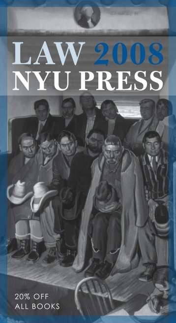 20% OFF ALL BOOKS - NYU Press